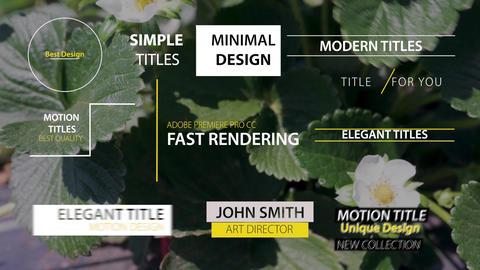 Simple Titles Pack モーショングラフィックステンプレート