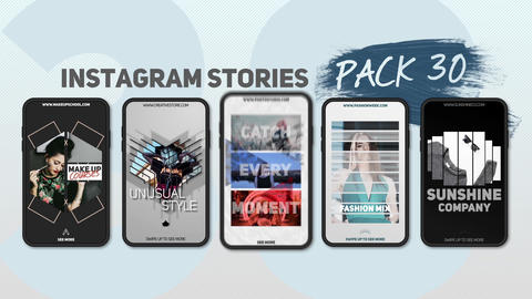 Instagram Stories Pack 30 After Effects Template