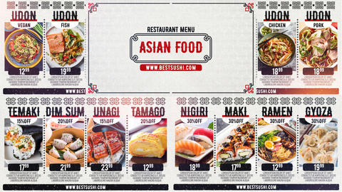 Asian Restaurant Menu After Effects Template