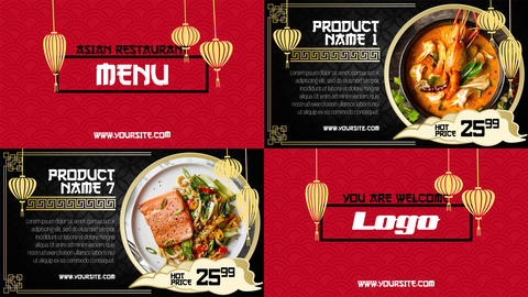 Asian Menu - Restaurant Promo After Effects Template