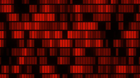 Horizontally flowing red electronic data blocks background loop CG動画