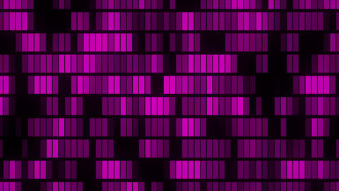 Horizontally flowing electronic purple data blocks background loop Animation