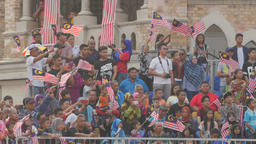 Crowd watching show at independence day,Kuala Lumpur,Malaysia Footage
