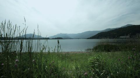 Lake kawaguchi shore Footage