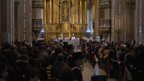 Independence day Bicentennial celebrations mass in Buenos Aires Cathedral, Pries Footage