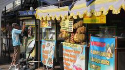Food stalls on street,Yogyakarta,Java,Indonesia Footage