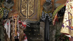 Traditional balinese dance with mask,Ubud,Bali,Indonesia Footage