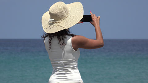 Woman Taking Photos On Vacation Live Action