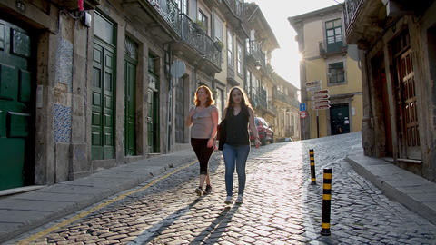A walk in through the historic district of Porto - CITY OF PORTO, PORTUGAL - Footage