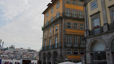 The colorful historic district of Porto - CITY OF PORTO, PORTUGAL - SEPTEMBER 18 Footage