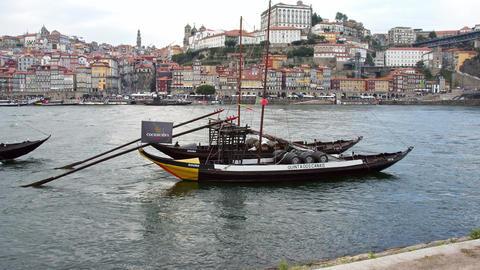 Beautiful Porto - Douro River in the historic district - CITY OF PORTO, PORTUGAL Footage