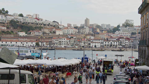 The historic district of Porto is a busy place in the city - CITY OF PORTO Footage