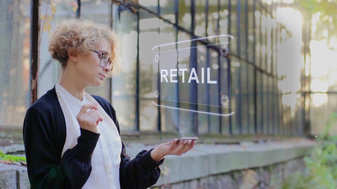 Blonde uses hologram Retail Footage