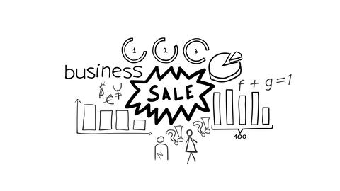 Isolated Hand Drawn Sale Icon Stock Video Footage