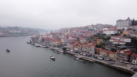 The historic district of Porto - aerial view - CITY OF PORTO, PORTUGAL - Footage