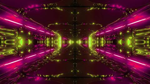 futuristic scifi alien space tunnel building 3d rendering live wallpaper motion Animation