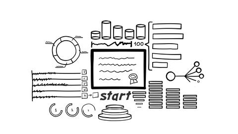 Isolated Hand Drawn Document Icon Animation