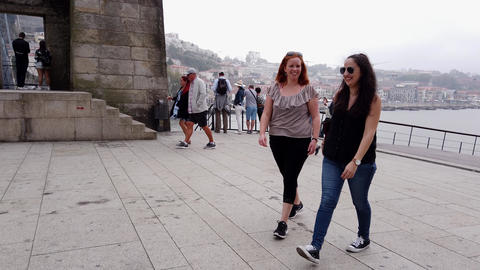 Young people on a sightseeing trip to Porto - CITY OF PORTO, PORTUGAL - Footage