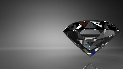 Diamond on black text space Photo