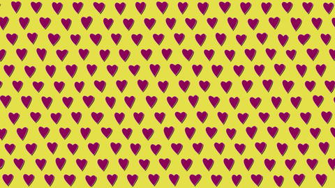 Simply Flat Animation With Moving Hearts GIF
