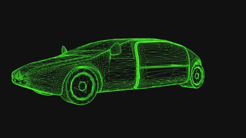 Autonomous Electric Vehicle Wireframe Design Concept Animation Animation