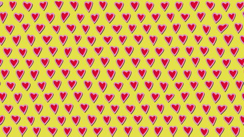 Simply Flat Animation With Heart Beating GIF