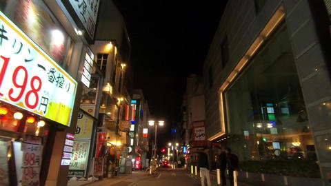 Traveling video. Downtown alley at night ライブ動画