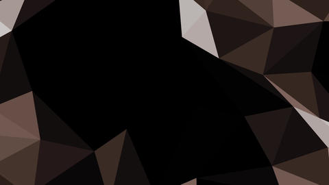 Movement of geometric shapes brown in space on a black background HD Footage