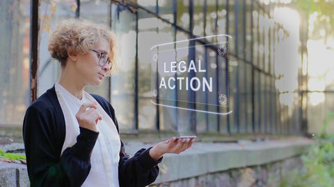 Blonde uses hologram Legal action Live Action