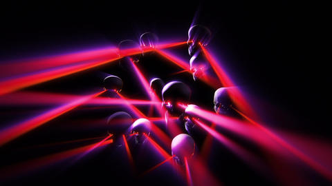 Laser beam skulls retro futur color Animation