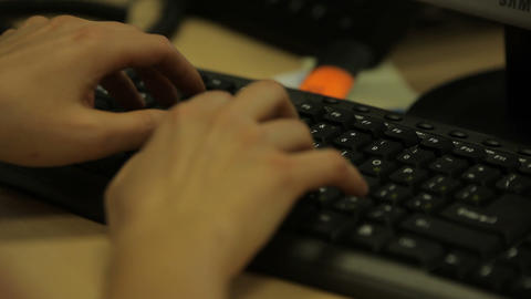 Keyboard,typing stock footage