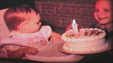 Little Girl Has First Birthday 1966 Vintage 8mm film Footage