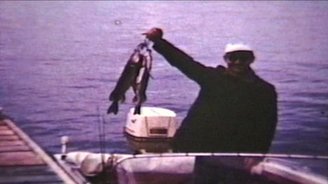 Fishing Trip 1960 Vintage 8mm film Stock Video Footage