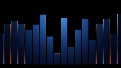 3d sound bar meter Stock Video Footage