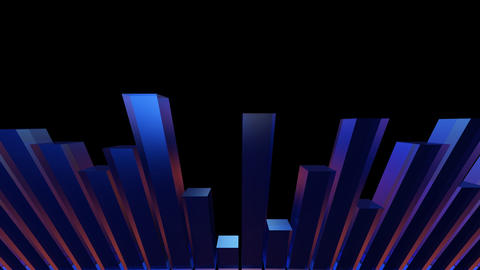 3d bar equalizer Animation