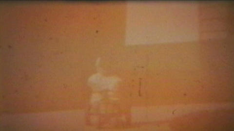 Boy Rides Tractor Outside 1964 Vintage 8mm film Stock Video Footage