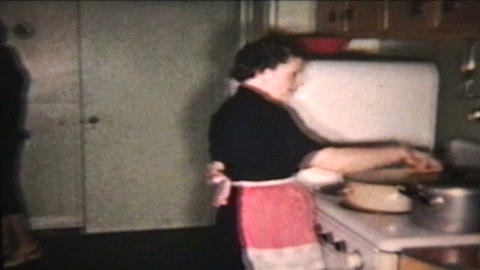 Christmas Turkey 1958 Vintage 8mm film Stock Video Footage