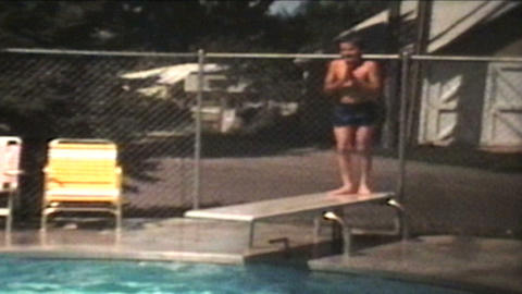 Fun In The Swimming Pool 1974 Vintage 8mm film Footage
