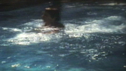 Fun In The Swimming Pool 1974 Vintage 8mm film Stock Video Footage