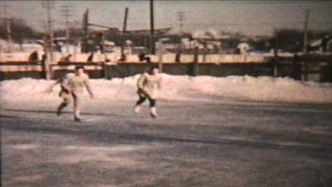 Ice Skating At The Local Rink 1960 Vintage 8mm film Footage