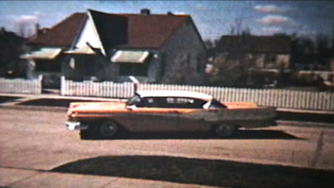 Old Cars Backing Out 1964 Vintage 8mm film Footage