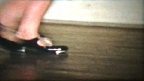 Tap Dancing 1958 Vintage 8mm film Stock Video Footage