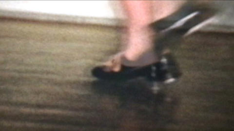 Tap Dancing 1958 Vintage 8mm film Stock Video Footage