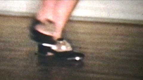 Tap   Dancing  1958  Vintage  8mm  Film stock footage