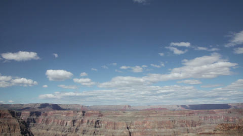 Grand canyon in sunny day with blue sky and clouds Stock Video Footage