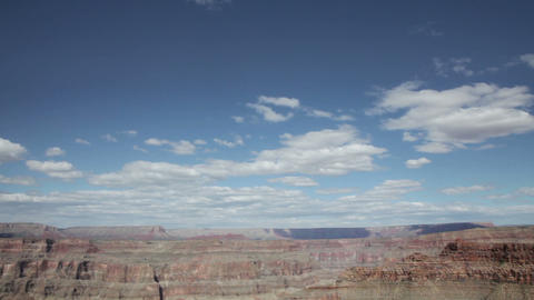 Grand canyon in sunny day with blue sky and clouds Footage