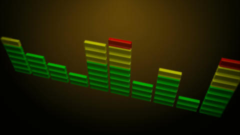3d shinny sound equalizer Stock Video Footage