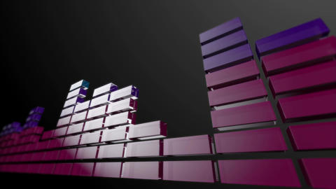 3d audio graphic stripes Animation