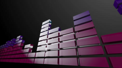 3d audio graphic stripes Stock Video Footage