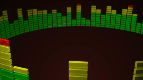 3d circle audio level Animation